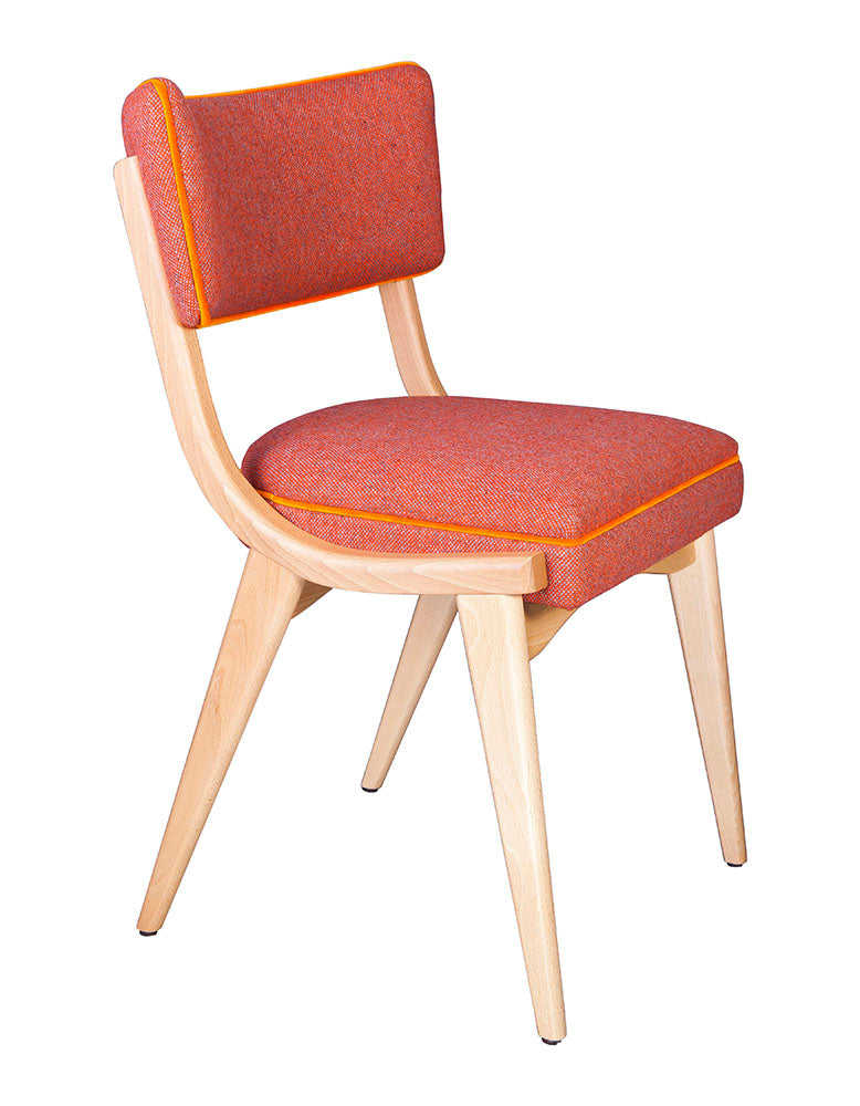 The Darwin Chair in Bute Orange Tweed