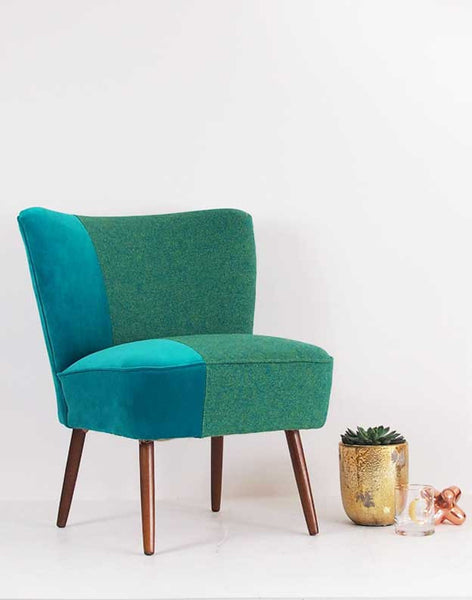 The Bartholomew Chair in Jade Bute Tweed