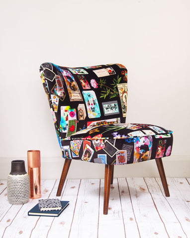 The Bartholomew Vintage Cocktail Chair in Maison De Jeu by Christian Lacroix