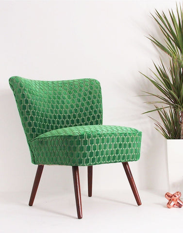 The Bartholomew Chair in Eden Bakerloo Velvet