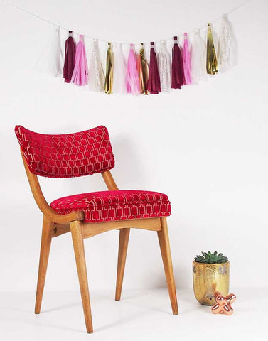 The Darwin Chair in Bakerloo Ruby Red Velvet