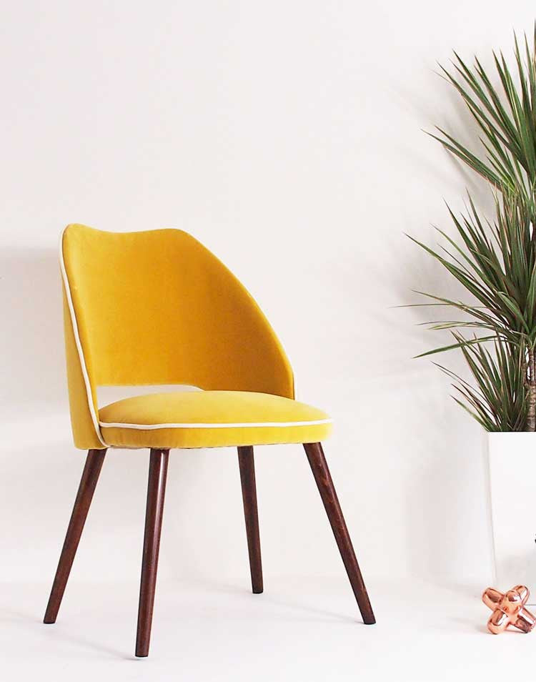 The Fernandina Desk Chair in Sunshine Velvet