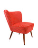 The Bartholomew Chair in Orange Bakerloo Velvet
