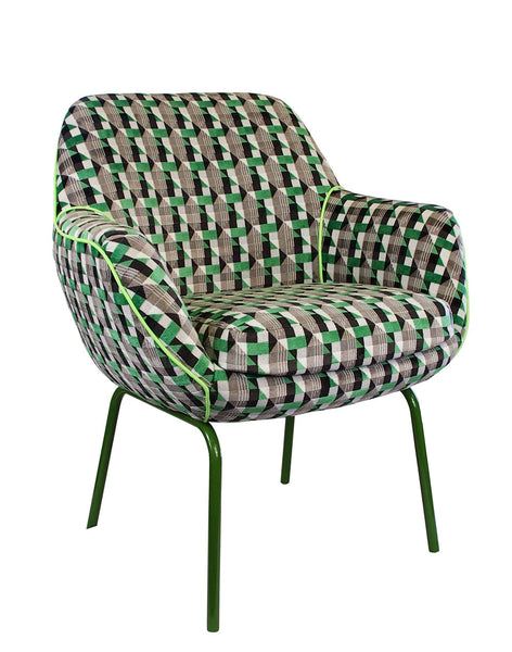 The Plaza Chair in Eden Piccadilly Velvet