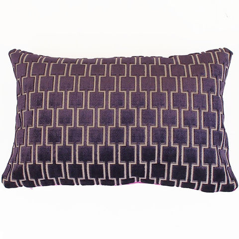 Bakerloo Blackberry Velvet Cushion