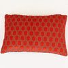 Bakerloo Neon Orange Velvet Cushion - available at Galapagosdesigns.com