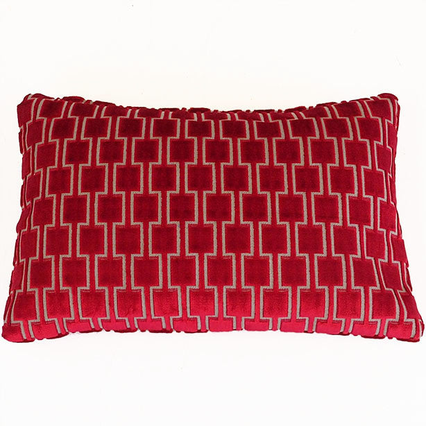 Bakerloo Ruby Red Velvet Cushion - available at GalapagosDesigns.com