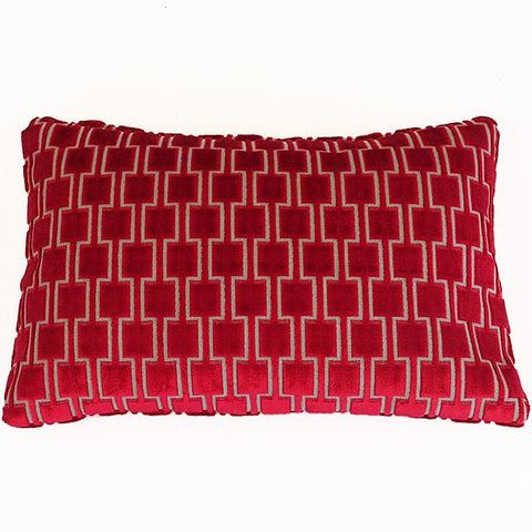 Bakerloo Ruby Red Velvet Cushion