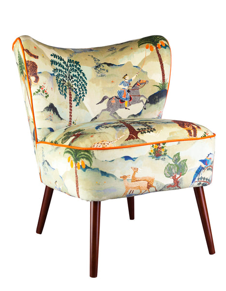 New Bartholomew Vintage Style Cocktail Chair in Aesop Fable