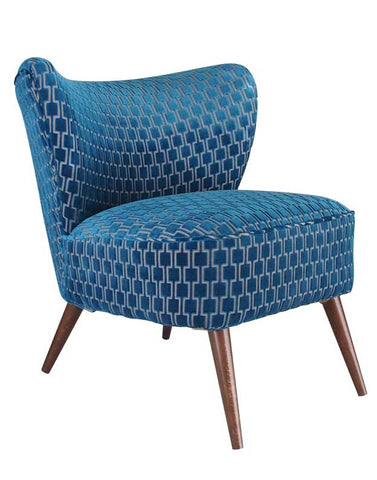 New Bartholomew Vintage Style Cocktail Chair in Bakerloo Kingfisher Blue