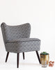 MidCentury Made Modern - The New Bartholomew Cocktail Chair in Noir Bhutan Lattice available at GalapagosDesigns.com