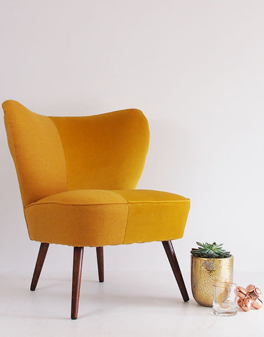 The Bartholomew Chair in Yellow Bute Tweed