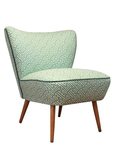 Galapagos Bartholomew Chair in Eau de Nil Lattice
