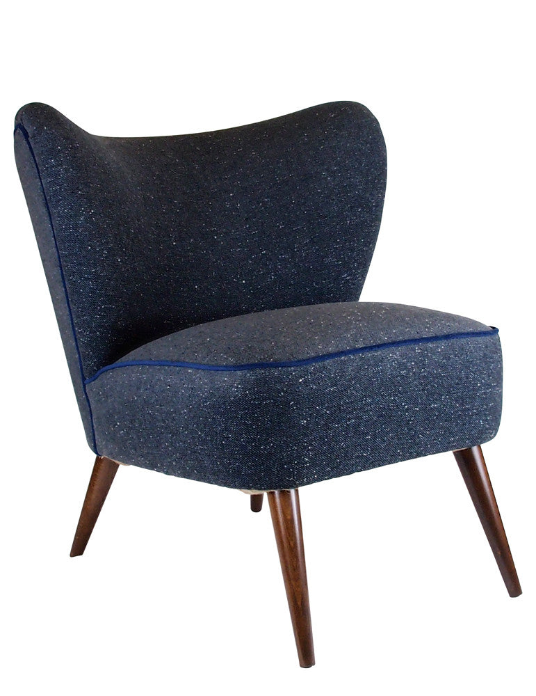 MidCentury Made Modern - The New Bartholomew Cocktail Chair II in Fleck