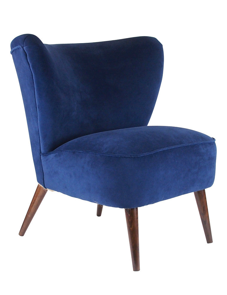 The New Bartholomew Cocktail Chair II in Velvet available at GalapagosDesigns.com