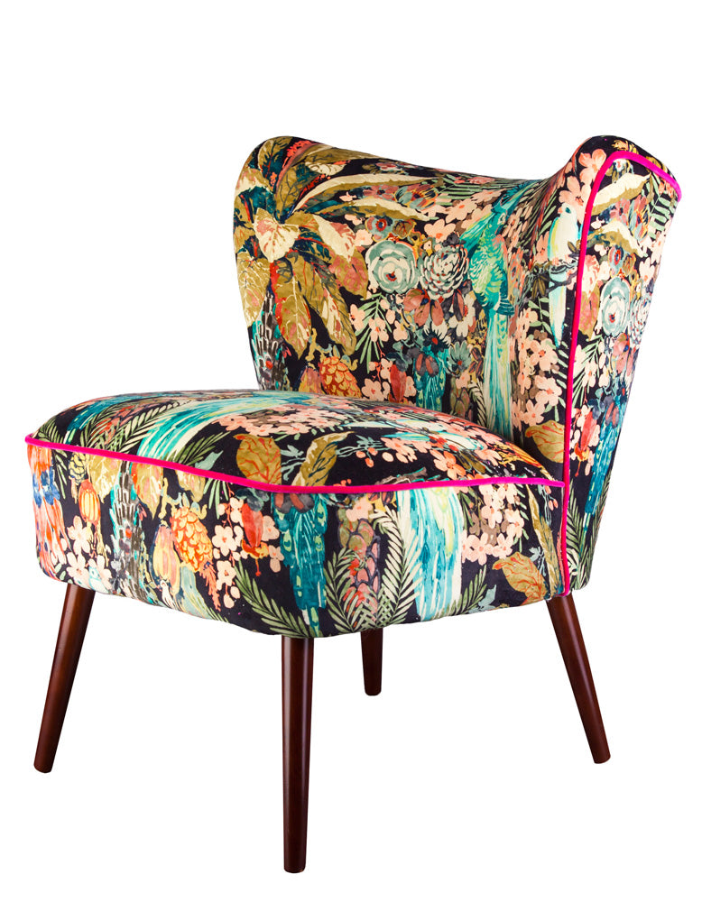 Bartholomew vintage style cocktail chair in rainforest for New style chair