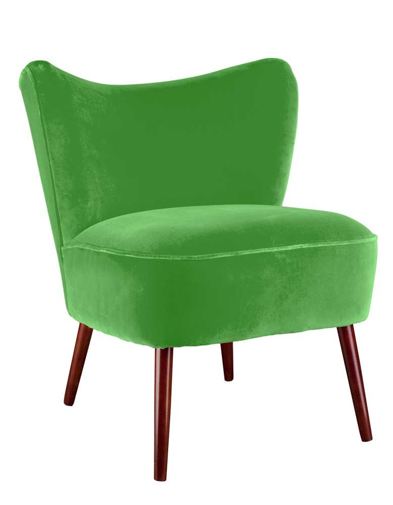 New Bartholomew Cocktail Chair in Emerald Green Varese Velvet