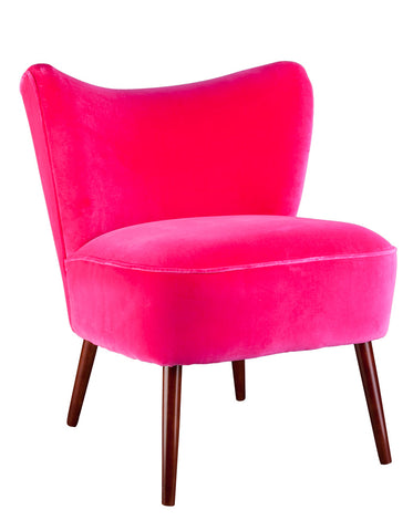 New Bartholomew Cocktail Chair in Fuscia Pink Varese Velvet
