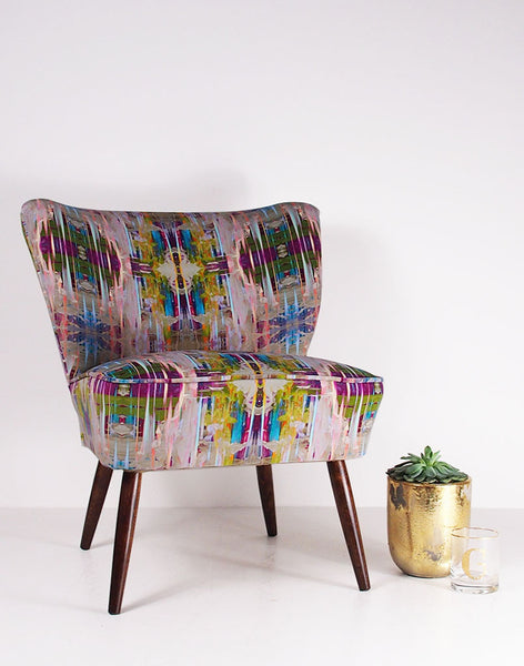 The Bartholomew Vintage Cocktail Chair in Chance Velvet available at GalapagosDesigns.com