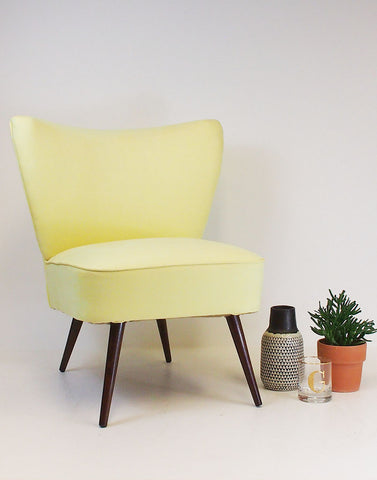 Simple Pleasures Bartholomew Vintage Cocktail Chair in Lemon