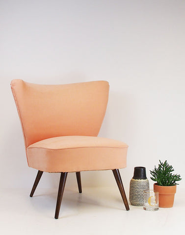 Simple Pleasures Bartholomew Vintage Cocktail Chair in Peach