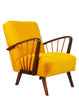 Midcentury Armchair in Razzle Dazzle Honey