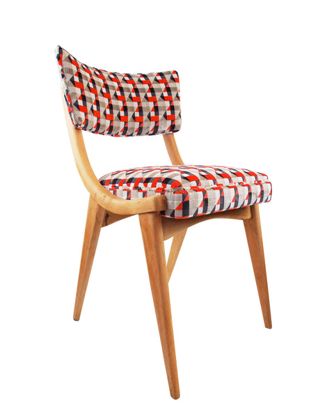 The Darwin Chair in Orange Piccadilly Velvet