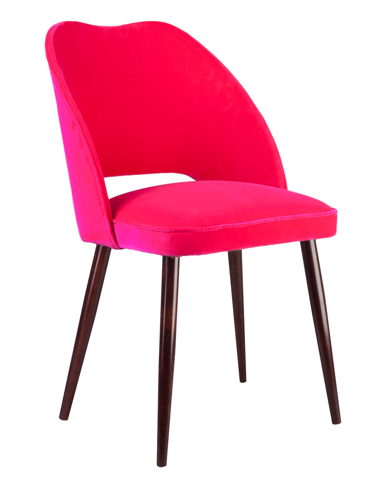 Merveilleux New Fernandina Bow Dining And Desk Chair In Varese Bright Fuchsia