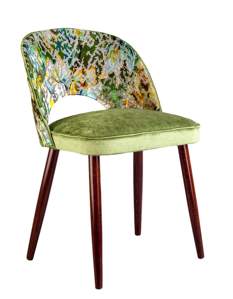 New Fernandina Dining and Desk Chair in Bardiglio Emerald