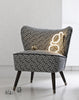 Galapagos Bartholomew Chair in Bhutan Lattice in Black