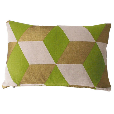 Cubes Grass Cushion
