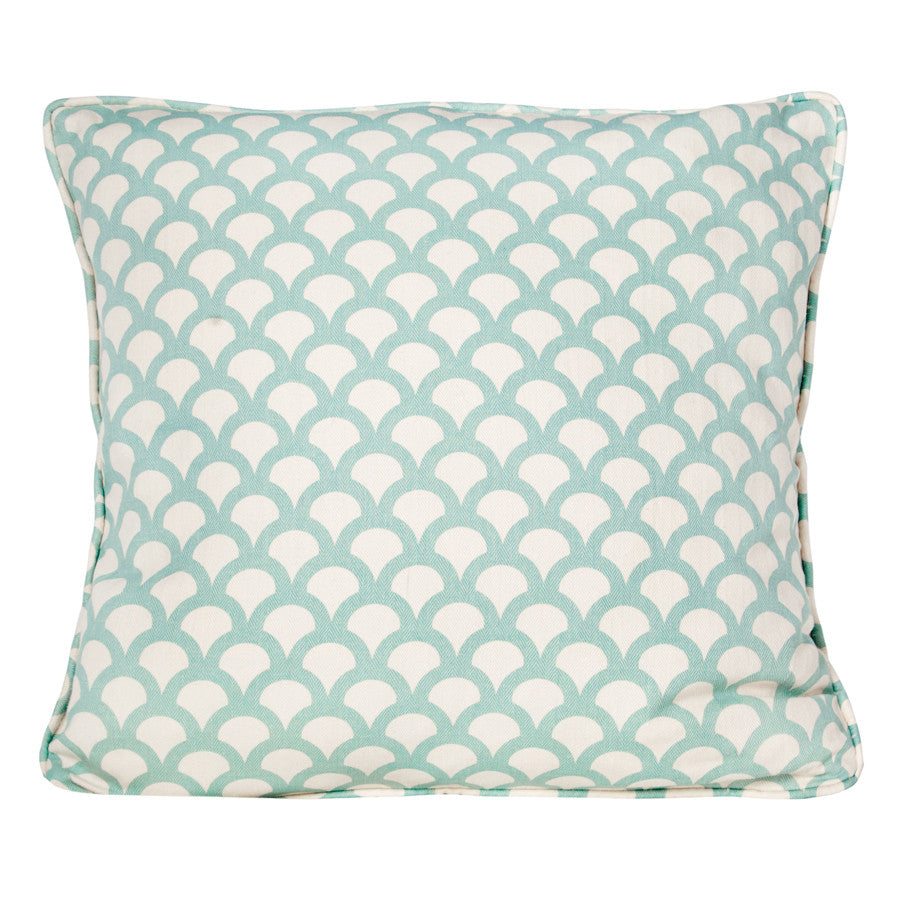 Galapagos Kyoto Koi Cushion in Aqua by Korla