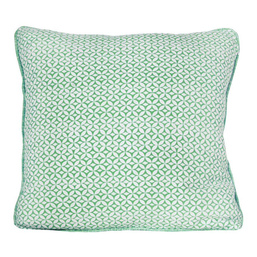 Lake Green Portia Cushion by Korla