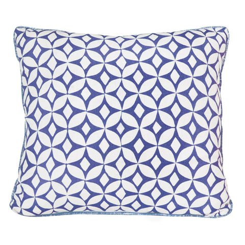 Ink Blue Quadria Cushion by Korla