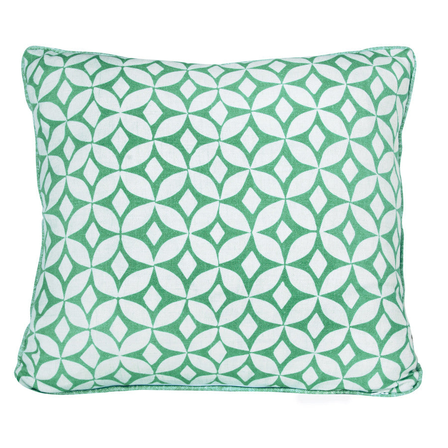 Lake Green Quadria Cushion by Korla