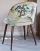 The New Fernandina Desk and Dining Chair in Linwood Fable Aesop and Omega Velvet available at GalapagosDesigns.com