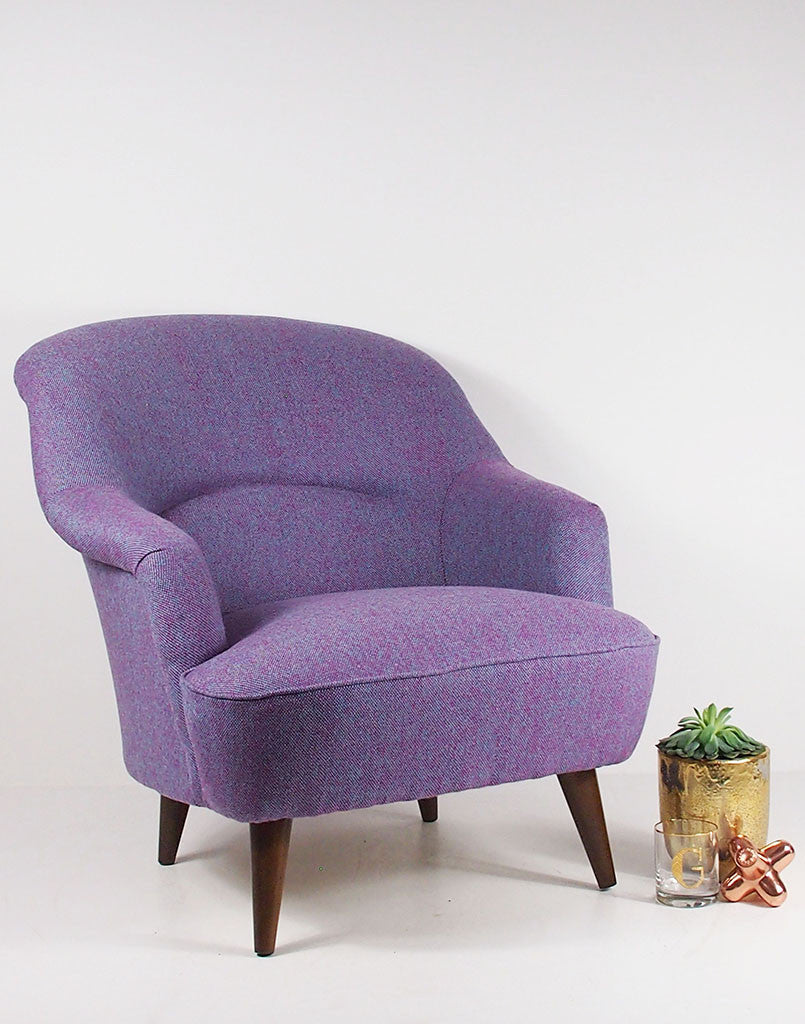 Beautiful The New Pinta Armchair In Bute Purple Tweed Available At  GalapagosDesigns.com