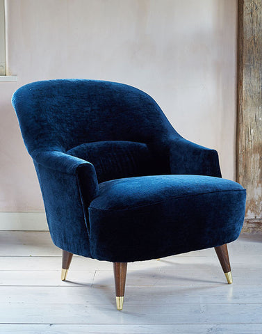 The New Pinta Armchair in Midnight Blue Luxe Velvet