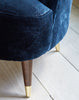Pinta Chair in Romo Tatiana Blue Velvet available at GalapagosDesigns.com