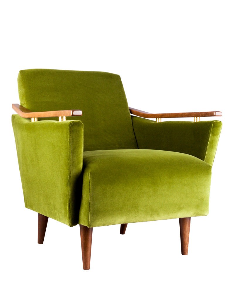 New Pinzon Armchair in Ice Velvet