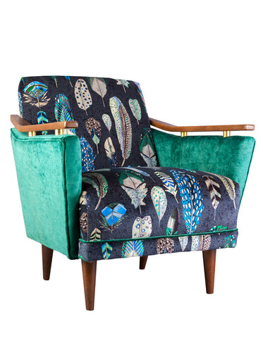 New Pinzon Armchair in Quill Velvet