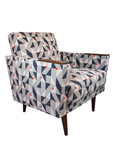 Santiago Vintage Armchair in Orange Puzzle