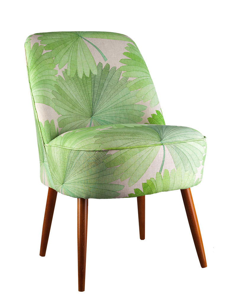 Slipper Cocktail Chair in Bangkok Nights Palm Green available at GalapagosDesigns.com