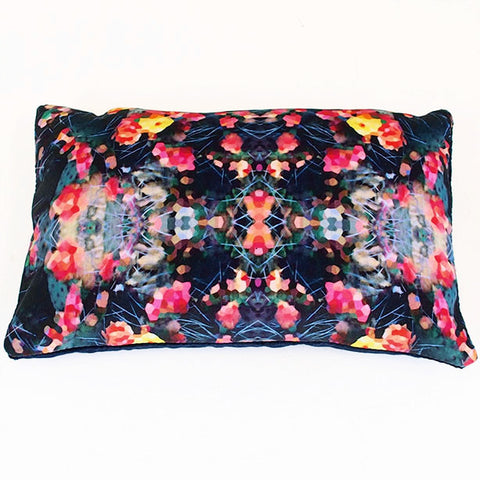 Fierce Beauty and Navy Velvet Cushion