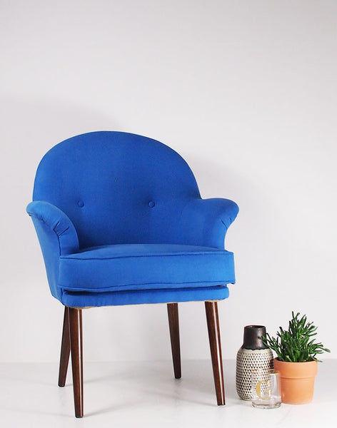 The New Beck Chair in Manzoni Ultramarine available at GalapagosDesigns.com