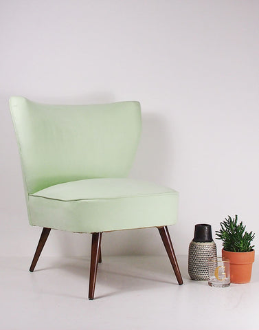 Simple Pleasures Vintage Bartholomew Cocktail Chair in Pistachio