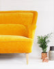 Vintage Original 1950's Sofa in Dandelion Yellow Velvet