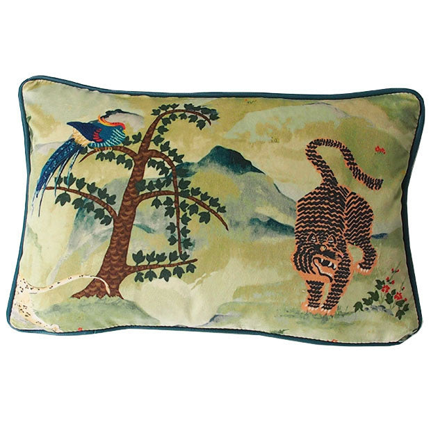 Fable Aesop and Baize Omega Velvet Cushion available at GalapagosDesigns.com
