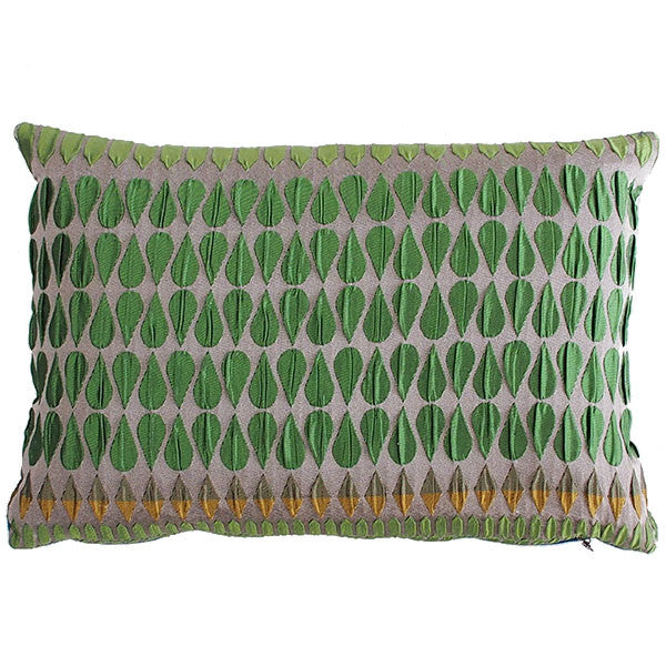 Margo Selby Kaleidoscope Collection Green Cushion - Available at Galapagosdesigns.com