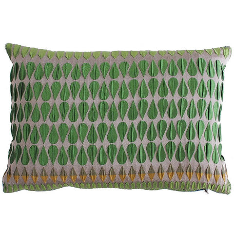Margo Selby Kaleidoscope Collection Green Cushion
